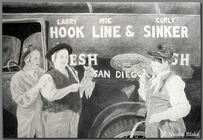 Hook, Line, & Sinker; pencil, 1998